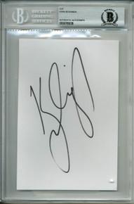 Kyra Sedgwick Charlie's Angels Signed 4.5x6.75 Cut Signature BAS Slabbed