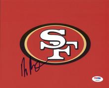 49ers Harris Barton Signed Authentic 8X10 Photo Autographed PSA/DNA #Y99297
