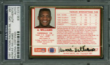 Cardinals Aeneas Williams Signed Card 1991 Action Packed #67 PSA/DNA Slabbed