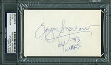 Knicks Rory Sparrow Authentic Signed 3X5 Index Card Autographed PSA/DNA Slabbed