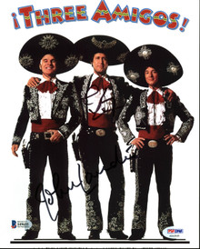 Chevy Chase & John Landis Three Amigos Signed 8X10 Photo BAS Witnessed #I49655