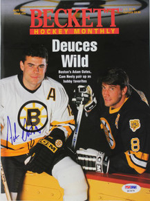 Bruins Adam Oates Authentic Signed 1995 Beckett Magazine PSA/DNA #Q12475