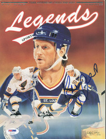 Blues Brett Hull Authentic Signed Magazine 1991 Legends PSA/DNA #U51411