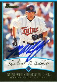Twins Michael Cuddyer Authentic Signed Card 2001 Bowman RC #259 w/ COA