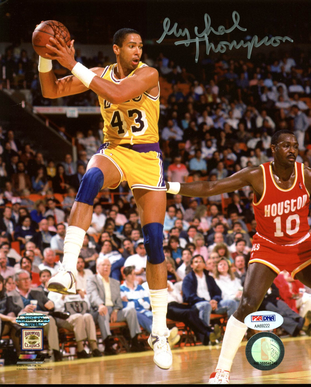 cc65440a ... Lakers Mychal Thompson Authentic Signed 8X10 Photo Autographed PSA/DNA  #AA69222. Image 1. Loading zoom