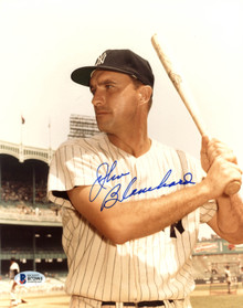 Yankees Johnny Blanchard Authentic Signed 8X10 Photo Autographed BAS #B72993