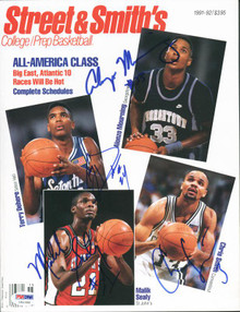 Alonzo Mourning, Dehere, Sealy & Smith Authentic Signed Magazine PSA/DNA #U51358