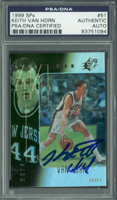 Nets Keith Van Horn Authentic Signed Card 1999 SPx #51 PSA/DNA Slabbed