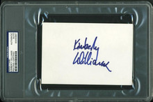 Kimberly Williams Authentic Signed 4X6 Index Card Autographed PSA/DNA Slabbed
