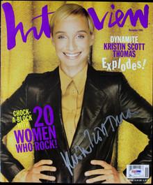 Kristin Scott Thomas Authentic Signed Interview Magazine Cover PSA/DNA #I81993