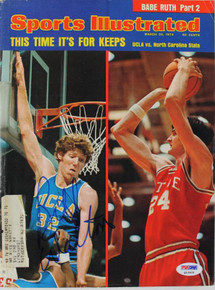 Ucla Bill Walton Authentic Signed Sports Illustrated 1974 PSA/DNA #Q12425