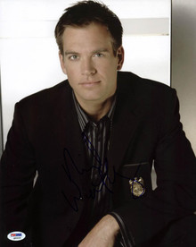 Michael Weatherly NCIS Signed Authentic 11X14 Photo PSA/DNA #Q85520