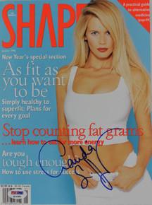Claudia Schiffer Authentic Signed 1996 Shape Magazine PSA/DNA #Q12388