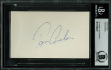 Tom Condon Authentic Signed 3x5 Index Card Autographed BAS Slabbed