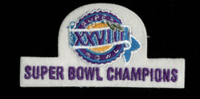 2x4 Inch Super Bowl XXVIII Patch Un-signed