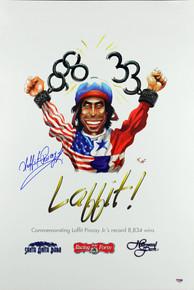 Laffit Pincay Jr Signed 18x26.5 Commemorative Career Wins Poster PSA/DNA #F19568