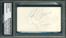 Bears Walter Payton Authentic Signed 2x3.5 Business Card PSA/DNA Slabbed