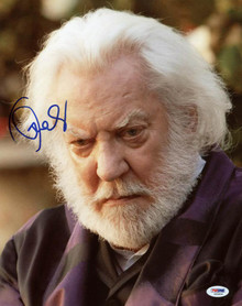 Donald Sutherland The Hunger Games Signed Authentic 11X14 Photo PSA/DNA #S33626