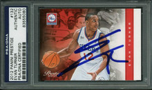 76Ers Evan Turner Authentic Signed Card 2012 Panini Prestige #132 PSA Slabbed