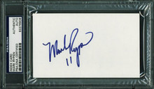 Redskins Mark Rypien Authentic Signed 3X5 Index Card Autographed PSA/DNA Slabbed