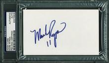 Redskins Mark Rypien Authentic Signed 3X5 Index Card Autographed PSA/DNA Slabbed