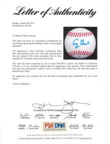 President George H.W. Bush Authentic Signed Baseball Autographed PSA/DNA #U01391
