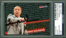 Hawks Lenny Wilkens Authentic Signed Card 1995 Hoops #216 PSA/DNA Slabbed