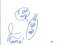 """Jason Mewes """"Nootch"""" Authentic Signed 11x14 Hand Drawn Sketch PSA/DNA #Z57167"""