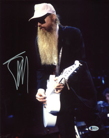 Billy Gibbons ZZ Top Authentic Signed 11X14 Photo (Damaged) BAS #B51721