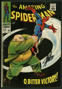 Stan Lee Signed Amazing Spider-Man #60 Comic Book Kingpin PSA/DNA #W18786