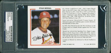Cardinals Stan Musial Authentic Signed 3.75X6 Advertisement PSA/DNA Slabbed
