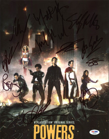 Powers (Logan Browning, Michael Madsen +9) Signed 11X14 Photo PSA/DNA #AB08263