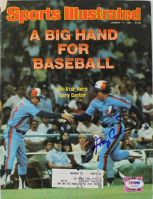 Expos Gary Carter Authentic Signed Sports Illustrated 1981 PSA/DNA #Q12208