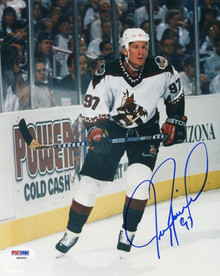 Coyotes Jeremy Roenick Signed Authentic 8X10 Photo Autographed PSA/DNA #S85851