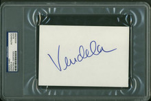 Vendela Authentic Signed 4X6 Index Card Autographed PSA/DNA Slabbed