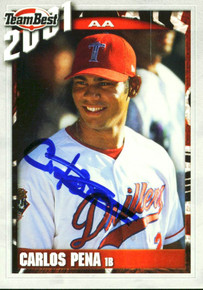 Rays Carlos Pena Authentic Signed Card 2001 Team Best RC #69 Autographed w/ COA