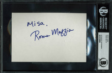 Roma Maffia The West Wing Authentic Signed 4x6 Index Card Autographed BAS Slab