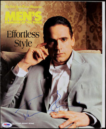 Jeremy Irons Authentic Signed Ny Times Mens Fahion Mag Cover PSA/DNA #J00154