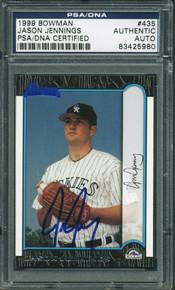 Jason Jennings Authentic Signed Card 1999 Bowman Rookie #435 PSA/DNA Slabbed