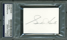 Red Wings Gordie Howe Authentic Signed 2X2.75 Cut Autographed PSA/DNA Slabbed