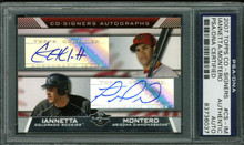 Chris Iannetta & Miguel Montero Signed Card 2007 Topps Co-Signers PSA Slabbed