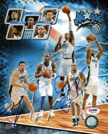 Magic Hedo Tukoglu & Jameer Nelson Signed Authentic 8X10 Photo PSA/DNA #W83912