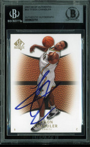 Hornets Tyson Chandler Authentic Signed Card 2007 SP Authentic #43 BAS Slabbed