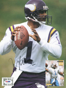 Vikings Warren Moon Authentic Signed Beckett Magazine Back Cover PSA/DNA #U42925