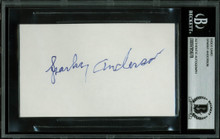 Tigers Sparky Anderson Authentic Signed 3x5 Index Card Autographed BAS Slabbed