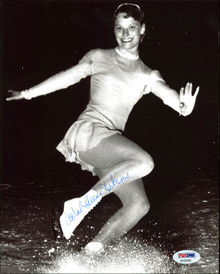 Carol Heiss Jenkins Figure Skating Authentic Signed 8X10 Photo PSA/DNA #AA43580