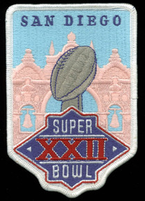 3.75x5.5 Inch Super Bowl XXII Patch Un-signed
