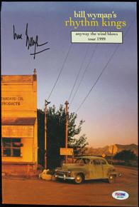 Bill Wyman Signed Authentic Rhythm Kings 1999 Program PSA/DNA #Q51580