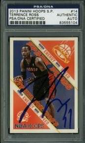 Raptors Terrence Ross Signed Card 2013 Panini Spark Plugs #14 PSA/DNA Slabbed