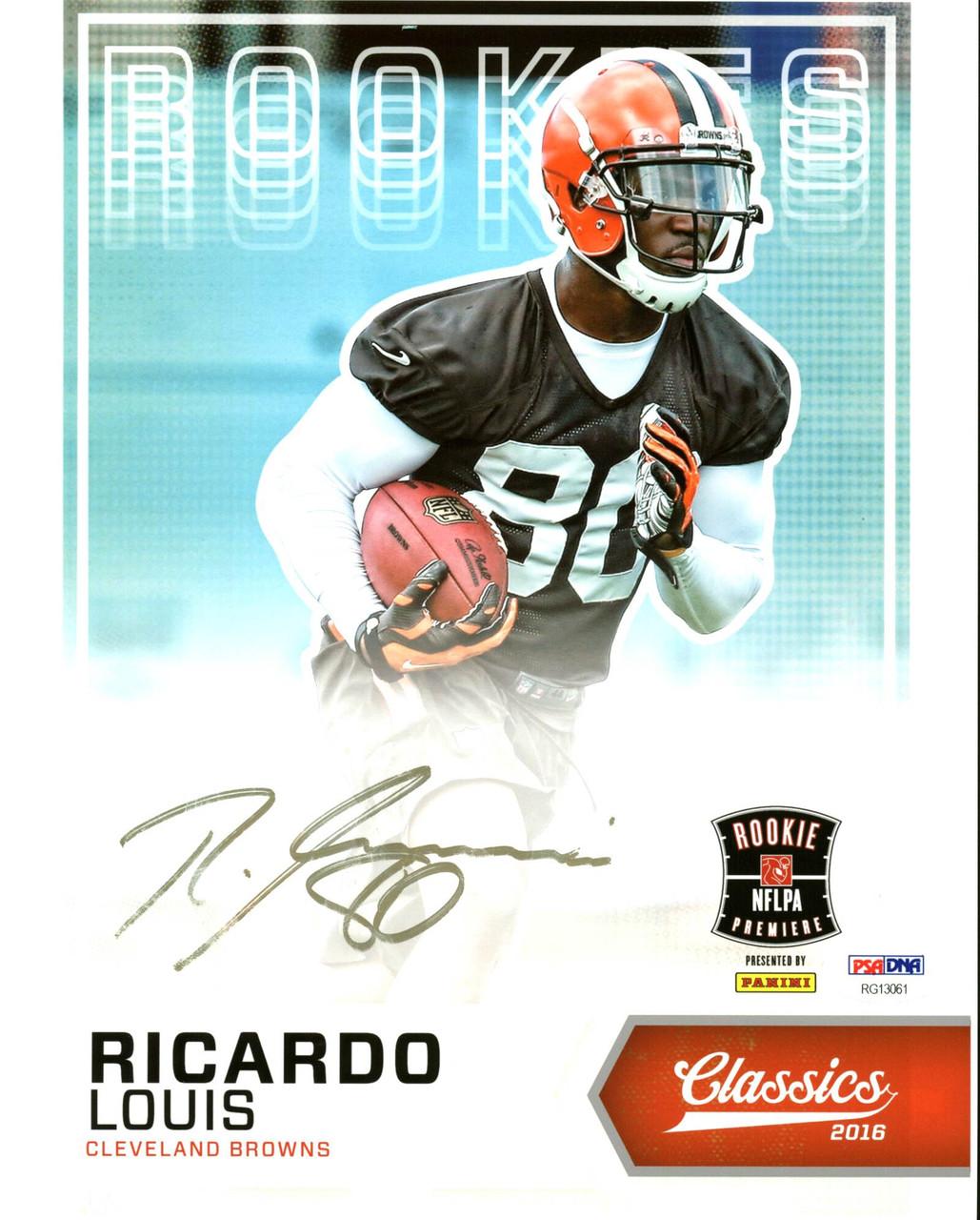online store 14edf ea6ea Browns Ricardo Louis Authentic Signed 8X10 Photo Autographed PSA/DNA  #RG13061